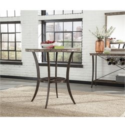 Bowery Hill Round Pub Table in Washed Gray