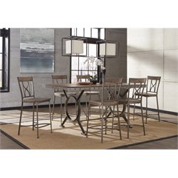 MER-1184 Counter Height Dining Set in Brown and Gray