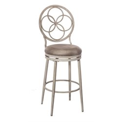 MER-1184 Faux Leather Swivel Bar Stool in Weathered Gray