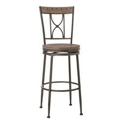 MER-1184 Swivel Bar Stool in Brown and Gray