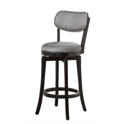 MER-1184  Swivel Bar Stool in Black and Gray
