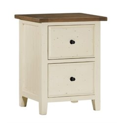 Bowery Hill 2 Drawer File Cabinet in Country White