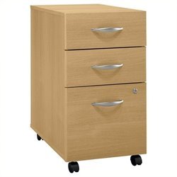 Bowery Hill 3 Drawer Mobile Pedestal in Light Oak
