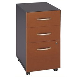 Bowery Hill 3 Drawer Mobile Pedestal in Auburn Maple