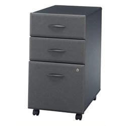Bowery Hill 3 Drawer Mobile Pedestal in Slate