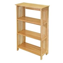 Bowery Hill 4 Shelf Foldable Bookcase in Beech