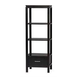 Bowery Hill 3 Shelf Audio Tower in Black