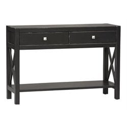 Bowery Hill Console Table in Antique Black