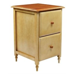 Bowery Hill 2 Drawer File Cabinet in Buttermilk Cherry