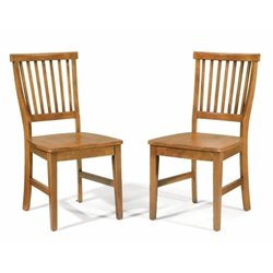 Bowery Hill Dining Chair in Cottage Oak (Set of 2)