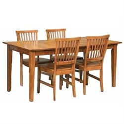 MER-1176 Dining Set in Cottage Oak