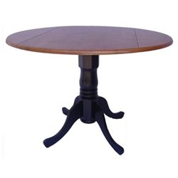 Bowery Hill Dual Drop Leaf Dining Table in Black and Cherry