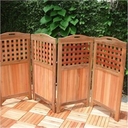 Bowery Hill Outdoor and Indoor Hardwood Privacy Screen