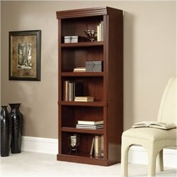 Bowery Hill 5 Shelves Bookcase in Classic Cherry