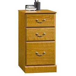 Bowery Hill 3 Drawer Pedestal in Carolina Oak