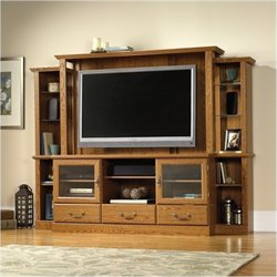 Bowery Hill Entertainment Center in Carolina Oak