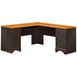 Bowery Hill Corner Computer Desk in Antiqued Paint