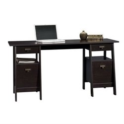 Bowery Hill Executive Trestle Desk in Jamocha Wood