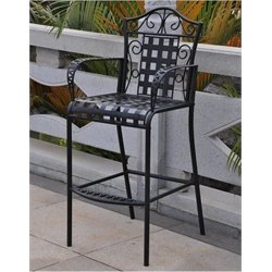 Bowery Hill Iron Patio Bar Stool (Set of 2)