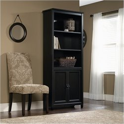 Bowery Hill Library Bookcase in Estate Black