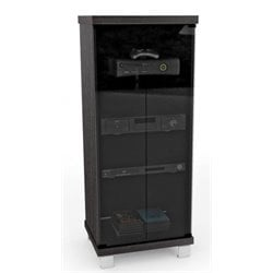 Bowery Hill Audio Rack in Ravenwood Black