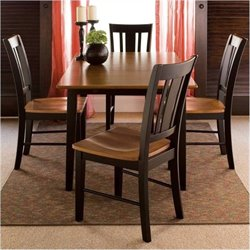 Bowery Hill 5 Piece Dining Set in Black Cherry