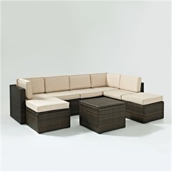 Bowery Hill 8 Piece Wicker Outdoor Sofa Set