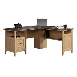 Bowery Hill L-Desk in Dover Oak