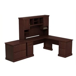 Bowery Hill L-Desk with Hutch and Lateral File