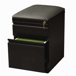 Bowery Hill Mobile Seat Box-File Cabinet in Black