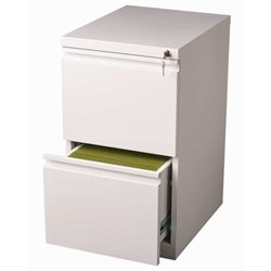 Bowery Hill 2 Drawer Mobile File Cabinet in White