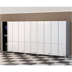 Bowery Hill 5 Piece Storage Cabinet Set in Starfire White