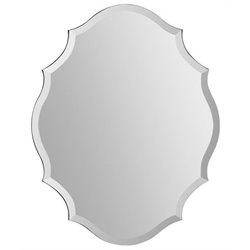 Bowery Hill Mirror in Wave Pattern Frame