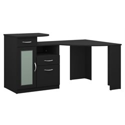 Bowery Hill Corner Home Office Computer Desk in Black