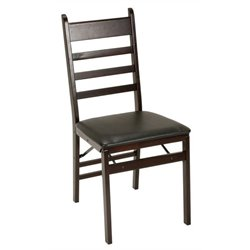 Bowery Hill Folding Chair in Espresso (Set of 2)