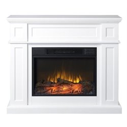 Bowery Hill Electric Fireplace in White