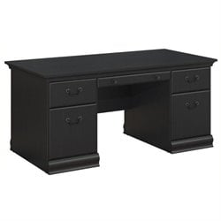 Bowery Hill Executive Desk in Antique Black