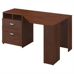 Bowery Hill Reversible Corner Desk in Hansen Cherry