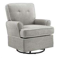 Bowery Hill Swivel Glider in Gray