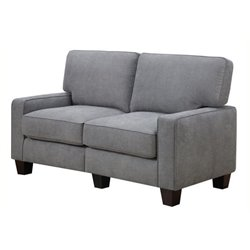 Bowery Hill Loveseat in Glacial Gray
