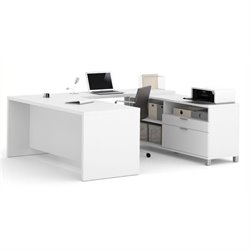 Bowery Hill U-Desk in White