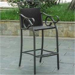 Bowery Hill Patio Bar Stool in Chocolate (Set of 2)