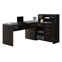 MER-1176 L-Shaped Home Office Desk with Hutch