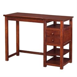 Bowery Hill Counter Height Drawing Table with Storage in Walnut
