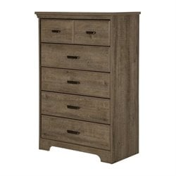 Bowery Hill 5 Drawer Chest in Weathered Oak