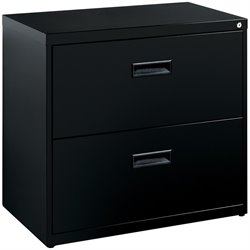 Bowery Hill 2 Drawer Lateral File Cabinet in Black