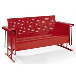 Bowery Hill Glider Sofa in Red