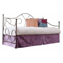 Bowery Hill Daybed with Link Spring and Trundle in Flint