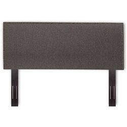 Bowery Hill Full Queen Upholstered Headboard in Jitterbug Gray
