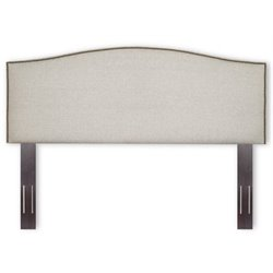 Bowery Hill Full Queen Upholstered Headboard in Grande Pearl